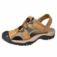 Sagace Europe i Stany Zjednoczone Męskie Płaskie Sandały Lato Nowe Hollow Sandals Lightweight Cuda Casual Buty 2019 P1UU #