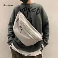 Trendy Brand Canvas Bag Shoulder Messenger Chest Fashion Simple Outdoor Sports Men's Waist Bags