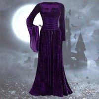 Lässige Kleider Frauen langes mittelalterliches Kleid Vintage Ärmel bodenlangen Cosplay Party Prinzessin weibliche elegante elven vestido # 40
