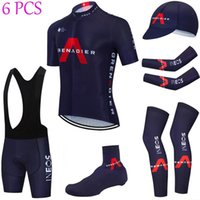Full set Team Ineos Ciclismo Jersey 20d Bike Shorts Set Ropa Ciclismo Verão Quick Seco Pro Bicycling Maillot Bottoms Wear