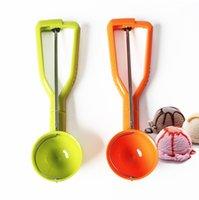 Glace cuillère cuillère cuillère glace boule de glace crème glacée scoops pile rond fruit puis cuillère cuillère cuillère cuisine outils accessoires GWD10217