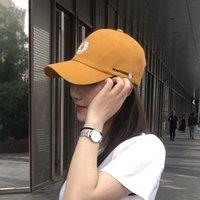 Ромашка бейсбольная кепка женщин корейский теннисный шляпа женские солнцезащитные шляпа отключенные вскользь