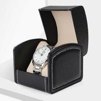 Bouteilles de stockage Boîte de montre Boîte de montre en cuir PU avec coussin Coussin de bijoux à grille