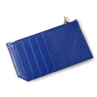 Card Holders High Grade Genuine Leather Unisex Creadit Holder Multicolor Zipper Female Student Mini Handbag Cute Slim Clutch Clip