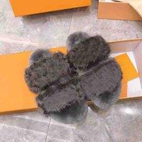 2021 desiner mujeres zapatillas de felpa piel clásica mullida diapositivas zapatillas diseñador para mujeres moda mujer zapatos sandalias peluche peludo zapatilla