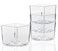 الجملة drinkware مصغرة البلاستيك أكواب الحلوى 2 أوقية الرماة مربعة لشوكولاته المقبلات عينات بركة طلقة النظارات