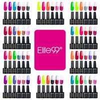 Nail Art Kitleri Elite99 6 adet Floresan Renk Değişen Jel Lehçe Seti Islatın Vernik Manikür 10 ml UV LED Vernis