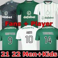 المشجعون لاعب الإصدار 21 22 سلتيك كرة القدم الفانيلة الرئيسية mcgregor griffiths 2021 2022 فورست كريستي إدوار إليونوسي الثالث الرجال أطقم كرة القدم