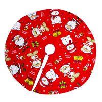 Christmas Decorations Tree Skirt Classic Design Santa Claus Elk Round Carpet For Home Floor Mat Year Decor