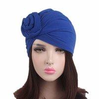 Nuove donne Twist Knot Turban Hat Ladies Solid Color India Cap Fashion Fabbands Femminile India Cappello Chemo Cap Accessori per capelli Y0911