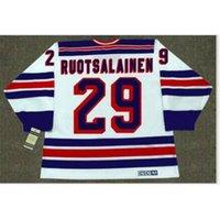 Benutzerdefinierte Bucht Jugendfrauen Vintage # 29 Reijo Ruotsalainen New York Rangers 1984 CCM Hockey Jersey Größe S-5XL oder benutzerdefinierte Name oder Nummer