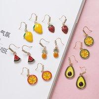 fruit earrings girl S925 Tremella fresh hook soft Earrings summer strawberry avocado lovely H8M2
