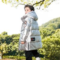 Down Coat 2021 Children Winter Boy Jacket Shinny Waterproof Snow Outerwear Clothes Thick Warm Hooded Kids Teens Clothing