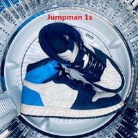 Jumpman 1s Basketbalschoenen Jorden 1 University Blue Obsidian Hoge Shadow 2.0 Sporten Fearless Mannen Womens Hyper Royal Unc Shattered Backboard 3.0 Maat US13 met de helft