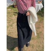 Clean space2021 winter new high waist casual denim women's basic skirt 27068