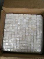 Fondos de pantalla pura blanca china shell de agua dulce madre de mosaico de perla azulejos para la casa interior azulejos de decoración 3 metros cuadrados / lote