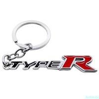 Car Accessories Key Ring for Type-R Keychain Fashion Metal Keyring Pendant for Honda Accord Civic CRV NC750X FIT City Jazz Jade