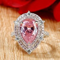 Wedding Rings Huitan Gorgeous Pink Cubic Zirconia Ly-designed Engagement Proposal For Women Anniversary Gift Fashion Jewelry