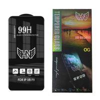 99H Protector de pantalla de vidrio templado de calidad de primera calidad para iPhone 13 12 Mini Pro Max 11 XR XS 8 7 6 PLUSH COBERTURA COMPLETA