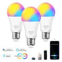 WiFi الذكية LED لمبة 12W E27 RGB CW اللون تغيير ضوء عكس الضوء المصابيح مصباح العمل مع اليكسا جوجل الرئيسية سيري السيطرة الصوتية