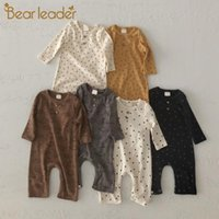 Jumpsuits Bear Leader Toddler Baby Spring Rompers Born Boys Girls Polka Dot Clothes Infants Long Sleeve Kids Casual Outfits