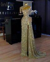 Designer Mermaid Evening Dresses Shiny Sequins Beading Luxury Dubai High Neck Party Dress abiti da cerimonia robe de soirée Marriage Pageant Wear