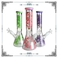 glass bubbler Hookahs Glass Bong Honeybee drawing water pipes bongs dab rig wholesale beaker mixed colors