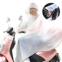 크리 에이 티브 여성 남성 비옷 반사 가장자리 장갑 불 투과성 전기 망토 자전거 타기 야간 반사 두건이있는 비옷 210320