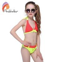 Анджелика купальник для девочек 2021 летние бикини милый лук детей купальники девушка плавательный костюм ребенка купание