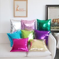 Candy Color Bronzing Pillow Cover Faux PU Leather Cushion Home Decor Gold Stamp Decorative Throw Case Cushion Decorative