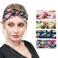 GRATIS DHL Moda Moda Impreso Nudo Deportes Yoga Headbands Estiramiento Elástico Hairbands Correr Fitness Sweatband Turban Headwrap Scarf Accesorios para el cabello Chicas