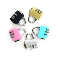 Toiletry Kits 3 Digit Combination Password Lock Suitcase Luggage Zinc Alloy Code Padlock Cupboard Cabinet Locker