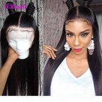 Человеческие волосы кружевные фронтские парики для черной женщины бразильские прямые ременные волосы 13 * 4 кружева передний парик с детскими волосами Perruques de Cheveux Hughtines