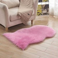 Carpets Super Soft Artificial Long Plush Carpet Solid Colors Faux Fur Area Rug Living Mats Warm Hairy Chair Cover Room HGLJ