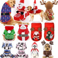 Dog Apparel Christmas Cute Elk Snowman Pet Funny Transformation Into A Warm Four-legged Clothing Small And Medium Cats Can Wear Coat