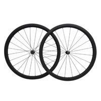 عجلات الدراجة Dengfu 38mm الكربون نوفاتيك 25 ملليمتر دراجة حافة السوداء محاصون سباق العجلات