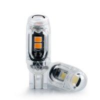 2PC bil LED-inredningsljus T10 W5W 194 168 CANBUS AUTO MIRROR LAMP 3030SMD Licensplåtlampa Transparent Shell Bright Diode 12V