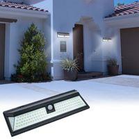 야외 태양 광 램프 빛 118 모션 센서와 광각 방수 야외 보안 조명 차고 파티오 가든 드라이브 웨이 야드 - 자동, 흰색 조명