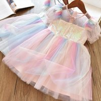 Lace Flower For Girls Girl Dress Wedding Ceremony Party Tulle Kids Princess Summer Children Clothing 3 8t