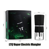 Auténtico LTQ Vapor Mangler eléctrico Mangler Triturador 1100mAh Batería recargable Hierba seca Metal Papel de mano con cable USB genuino