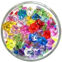200 adet / takım Renkli Akvaryum Akrilik Taşlar Kristal Buz Küpleri Dekor Vazo Dolgu Çakmak Balık Tankı Aksesuarları Diyjewelry Dekorasyon 1984 Q2