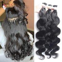 Body Wave Microlinks I Tip Extensions Indian Natural Wavy Virgin Bulk Women 100% Human Hair For Salon Ever Beauty