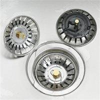 جودة عالية 79.3 ملليمتر 304 الفولاذ المقاوم للصدأ المصارف المطبخ بالوعة مصفاة سدادة النفايات المكونات تصفية الحمام حوض استنزاف 2084 v2