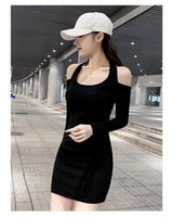 Casual Dresses Sexy Backless Dress Women Long Sleeve Bodycon Party Off Shoulder O Neck Mounted Sheath Mini Club 2021 Spring Robe