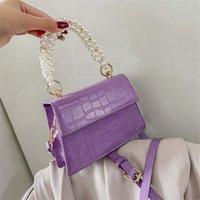 Fashion Women'S Handbags Pearl Hand Shoulder PU Leather Flap Crossbody s 2021 Female Tote Bag Torebka Damska