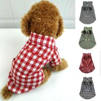 Cute Button Dogs Pets Clothing Plaid Shirt Soft Dog Clothes Warm Pet Comfortable Puppy Accessory Trendy Apparel