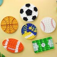 Спортивный Футбол Баскетбол Пузырь Fidget Toys Аутизм Стресс Возмездиевые Игрушки Для Детей Простое Ямп Силиконовые Отдых Игры Игрушки HWA8658