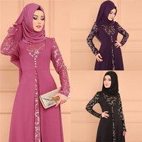 Casual Dresses Plus Size 5XL Dubai Long Sleeve Dress Women Muslim Fake Two Piece Party Ethnic Islamic Costume Abaya Large Clothing
