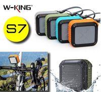 Sport Bike Speaker S7 W-KING IPX6 Waterproof Bluetooth Outdoor shockproof Wireless NFC TF Card Play Hands-free Mic Soundbar Riding Subwoofer
