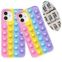 Silicone Pop-It-IDGGET Telefono custodie per iPhone 13 12 11 Pro Max XS XR 6S 7G 8G Samsung A02 A32 A03S S21 A22 S20 FE A12 A52 A72 Plus Anti ansia rivivello stress toy cover